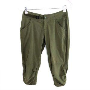 {PRANA}Army Green Jasmine Knicker Crip Capri Pants